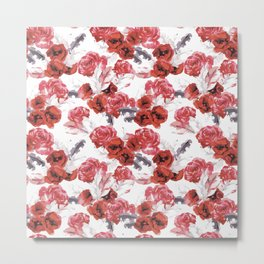 Painting with roses Metal Print