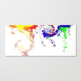 Rainbow Spurt 03 Canvas Print