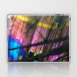 Labradorite and All it's Colors Blue Pink Yellow Purple Flash Magic Vibrant Abundance Laptop & iPad Skin