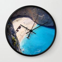 Hidden Beach & Shipwreck 2 Wall Clock