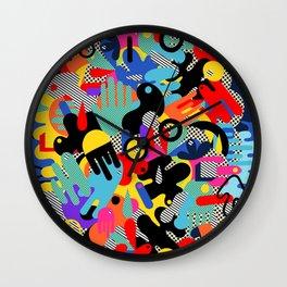 Color blobs 002 Wall Clock