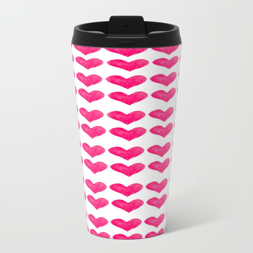 Pink Hearts Travel Mug TRM6533768