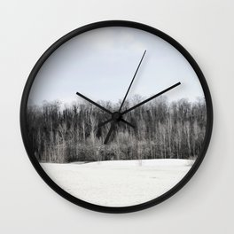 Abandoned sand quarry Wall Clock