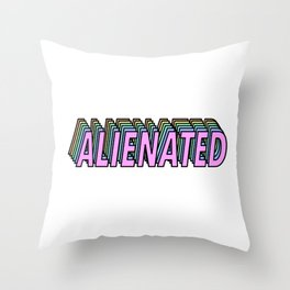 Alienated Throw Pillow