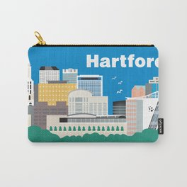 Hartford, Connecticut - Skyline Illustration by Loose Petals Carry-All Pouch