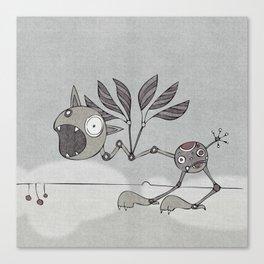Grey Shrieky Canvas Print