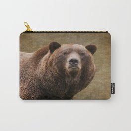 Brown Bear Stare Carry-All Pouch