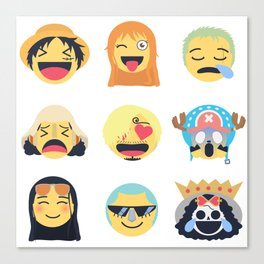 Nakama Emoji Design Canvas Print