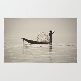 Fisherman at Inle Lake Rug