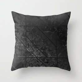 Black Marble Texture G310 Throw Pillow