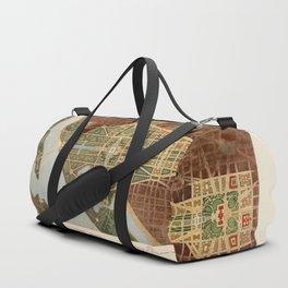 The Mall, Washington D.C. Map (1915) Duffle Bag