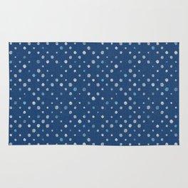 LOTS OF DOTS / indigo blue / linen beige / light blue Rug