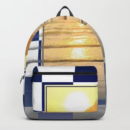 Port Erin - check graphic Backpack