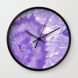 Ultra Violet Crystal Wall Clock