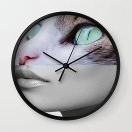 Cat woman Wall Clock