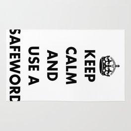 Keep Calm and Use A Safeword Rug