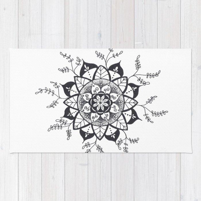 Mandala in Nature Rug