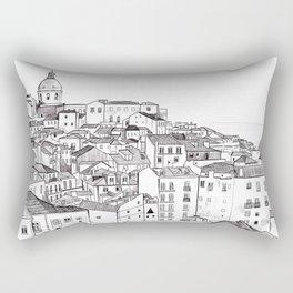 Lisbon Cityscape Rectangular Pillow