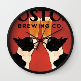 Boston Terrier Brewing Company Wall Clock