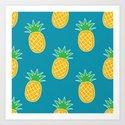 Bright Summer Pineapple Pattern by designbycheyney
