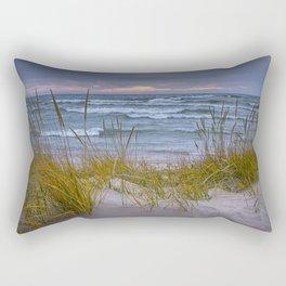 Lake Michigan Dune with Beach Grass at Sunset Rectangular Pillow