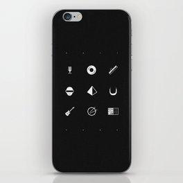 Tribute to Daft Punk, B&W. iPhone Skin