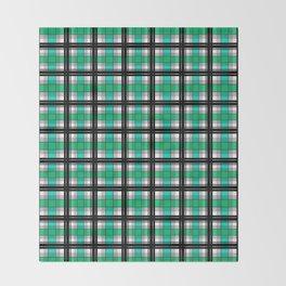 Plaid tartan green Throw Blanket