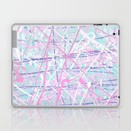 Flight of Color - pink turquoise Laptop & iPad Skin