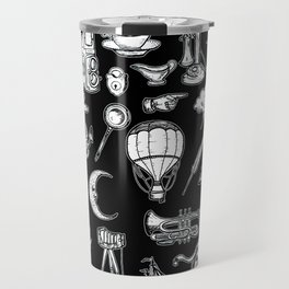 Vintage Retro Hand Drawn Illustrations Travel Mug