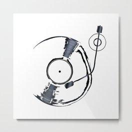 Record Deck Background Metal Print