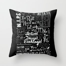 Vic Reeves Big Night Out catchphrases Throw Pillow