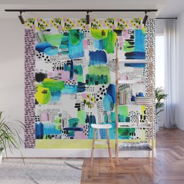 Playful Collage Wall Mural