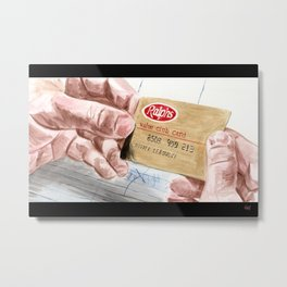 Ralph's Club Card Metal Print