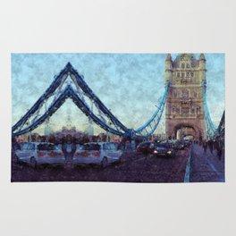 Bermondsey Divergence - Tower Bridge, London Rug