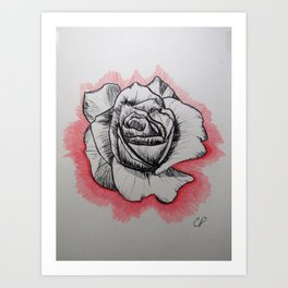 Blissful Rose Art Print