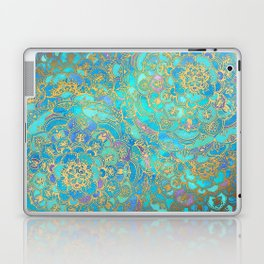 Sapphire & Jade Stained Glass Mandalas Laptop & iPad Skin