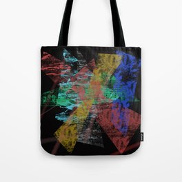 Black abstract designe Tote Bag