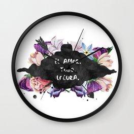 El Amor. Todo. Locura Wall Clock