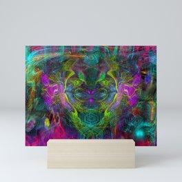 Rocket Man (abstract, psychedelic) Mini Art Print