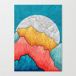 The crosshatch peaks Canvas Print