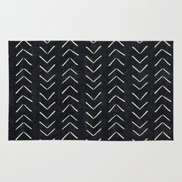 Mudcloth Big Arrows in Black and White Rug