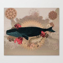 The Flying Whale Canvas Print