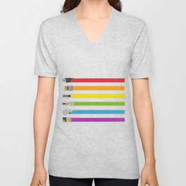 Lightsaber Rainbow Unisex V-Neck