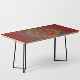 Growing - Lamium - plant cell embroidery Coffee Table