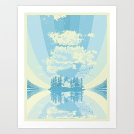 Cottage #3 - Lake Art Print