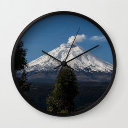 Cotopaxi Volcano in Ecuador Wall Clock