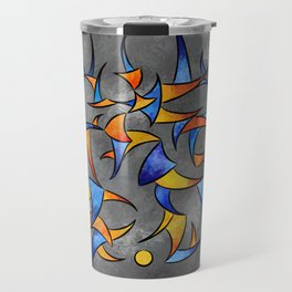 Kelamissa - abstract rounded triangle world expressed in one word Travel Mug