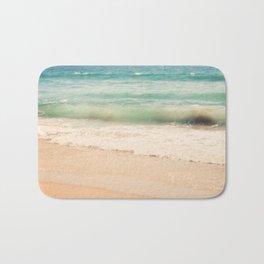 beach. Sea Glass ocean wave photograph. Bath Mat