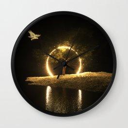 Circle Eagle Wall Clock