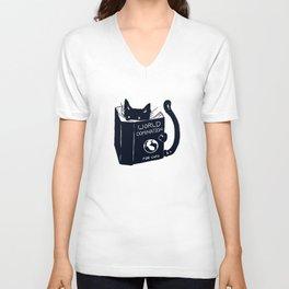 World Domination For Cats Unisex V-Neck